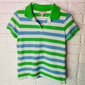 Lilly Pulitzer Polo Top Size Small Shirt Stripes